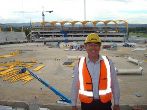 Metricon stadium build